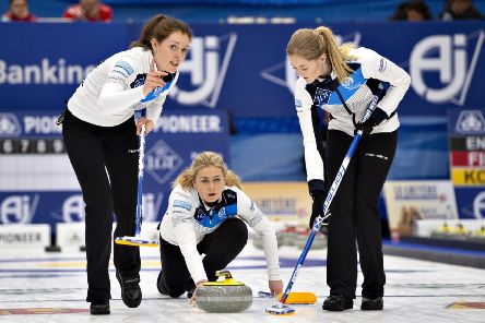Scotland lost to Denmark and Switzerland at the Curling World Championship in Silkeborg. Picture: Henning Bagger/Ritzau Scanpix via AP