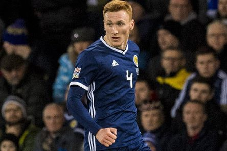 David Bates in action for Scotland in the 3-2 win over Israel at Hampden in the Uefa Nations League. Picture: Alan Harvey/SNS
