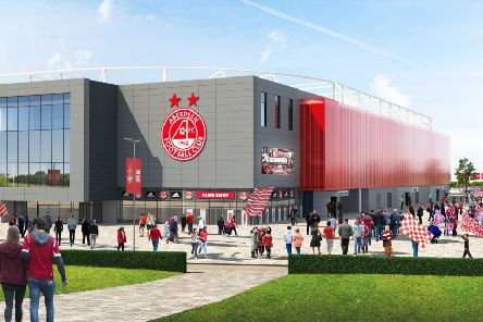 An artist's impression of the new Aberdeen stadium development. Picture: Contributed