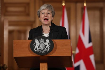 Theresa May's big speech on the Brexit impasse was the last straw for many in her own party (Picture: Jonathan Brady - WPA Pool/Getty Images)