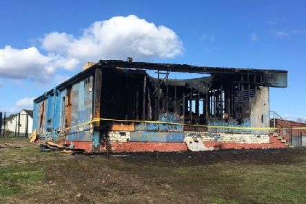Last night's blaze has left the building gutted. Picture: Contributed