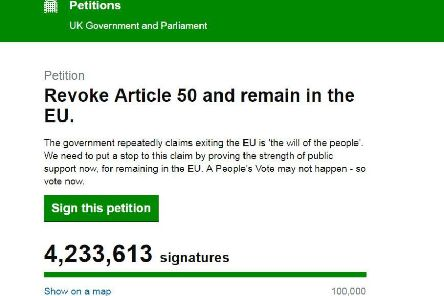 The petition has attracted more than 4 million signatures in a matter of days.