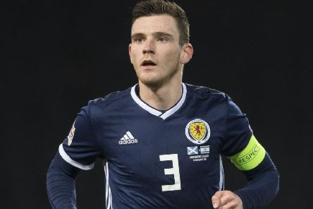 Scotland captain 'Andy Robertson has joined up with the squad for the San Marino game. Picture: SNS