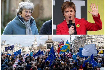 "Nicola Sturgeon said she believes Theresa May is ""part of the problem"". Pictures: AFP/Getty"