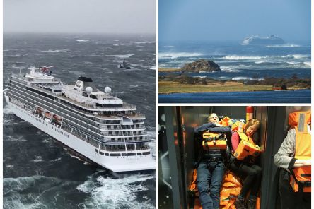 A cruise ship which got into difficulties off the coast of Norway amid stormy seas is sailing to port after around half of its passengers were evacuated. Pictures: Getty/PA