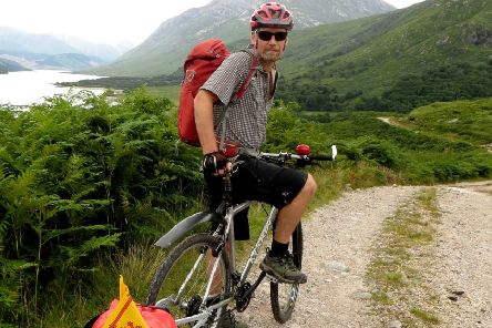 Alan Brown's book Overlander is about 'bikepacking' around Scotland