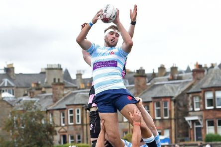 Edinburgh Accies' Ruari Campbell scored a try against Watsonians in the Gala Sevens final. Picture: SNS