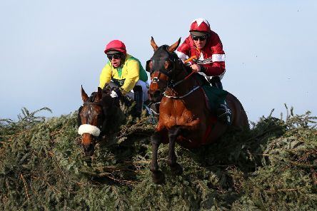 Tiger Roll jumps the last on his way to victory in the Grand National. Picture: Alex Livesey/Getty Images