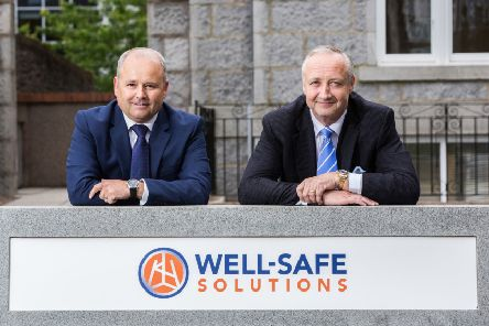 Well-Safe CEO Phil Milton (left) and executive director Mark Patterson. Picture�Simon Price