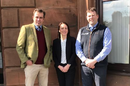 Director Tom Oates, admin assistant Susan Peacock and farm business consultant Michael Halliday. Picture: Contributed