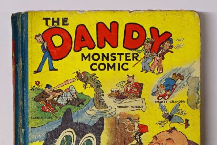 The rare copy of a 1939 Dandy Monster Comic that has fetched almost 1,300 pounds at auction. Picture: Andy Newman/PA Wire