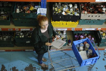 One of the food banks run by the Trussell Trust. Picture: Neil Hanna