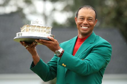 Tiger Woods with the Masters Trophy. Picture: Andrew Redington/Getty Images