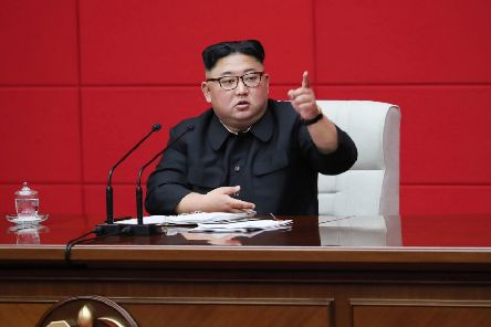 Hackers demanded that Sony cancel the cinematic release of a film about the assassination of North Korean leader Kim Jong-un (Picture: KCNA/AFP/Getty)
