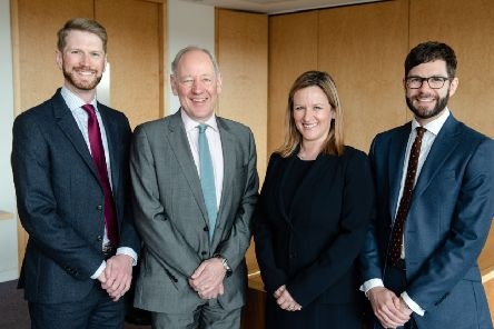 From left: Turcan Connell's land and property partner Alistair Rushworth; chairman Simon Mackintosh; managing partner Gillian Crandles; and tax and succession partner Graeme Gass. Picture: Julie Broadfoot.