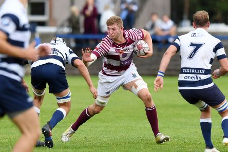 Jamie Hodgson in action for Watsonians against Heriot's. Picture: SNS Group