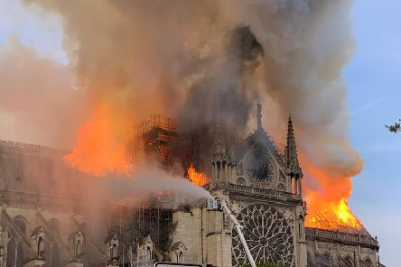 Investigators say an electrical fault most likely caused the devastating fire at Notre-Dame Cathedral in Paris. Picture: AFP/Getty Images