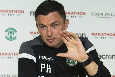 Hibernian manager Paul Heckingbottom looks ahead to the Premiership clash with Celtic. Picture: Paul Devlin/SNS