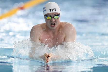 Ross Murdoch in action during the 200 breaststroke at the British Swimming Championships at Tollcross in Glasgow. Picture: Ian Rutherford/PA Wire