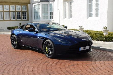 The Aston Martin DB11 AMR, pictured outside the Trump Turnberry resort, Ayrshire. Picture: Kevin Stewart