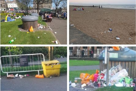 Edinburgh much-loved beauty spots took a bit of a hammering over the weekend