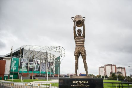 The statue of Billy McNeill outside of Celtic Park. Picture: John Devlin