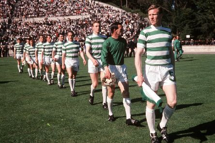 Billy McNeill leads out Celtic for the 1967 European Cup final in Lisbon