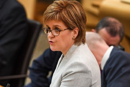 Nicola Sturgeon in Holyrood. (Photo by Jeff J Mitchell/Getty Images)