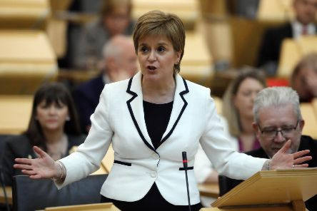"First Minister Nicola Sturgeon MSP makes a statement to the Scottish parliament announcing her ministerial statement on Brexit and Scotland�""s Future. 24 April 2019 . Pic - Andrew Cowan/Scottish Parliament"