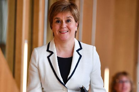 Nicola Sturgeon heads to the Scottish Parliament's debating chamber to update MSPs on Brexit and independence (Picture: Jeff J Mitchell/Getty Images)