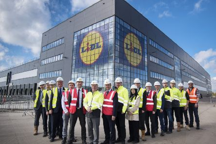 Lidl's new Eurocentral site will be the retailer's largest distribution centre in Great Britain. Picture: Julie Howden