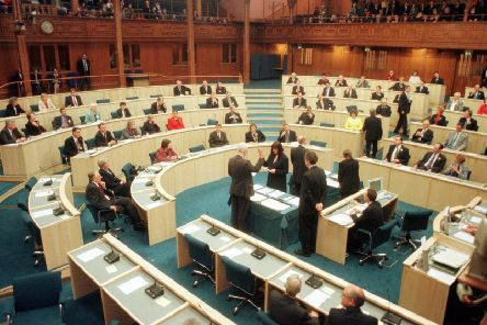 The first MSPs for nearly 300 years are sworn in on 12 May, 1999. (Picture: PA)