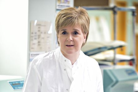 Nicola Sturgeon pays a visit to the Golden Jubilee National Hospital in Cydebank. Picture: TSPL