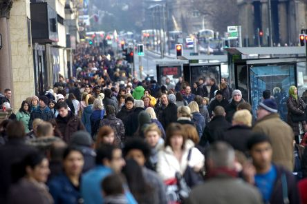 The number of Scots looking for work remains at a record low