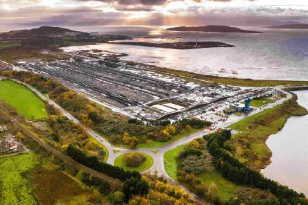 An aerial view of the Hunterston PARC development in North Ayrshire. Picture: Ant Clausen