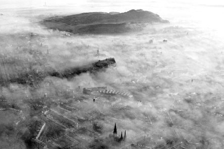 Air pollution is an issue that has long dogged the city known as Auld Reekie as this image from 1969 shows