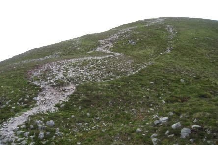 An eroded path on Beinn a' Ghlo in the southern Cairngorms