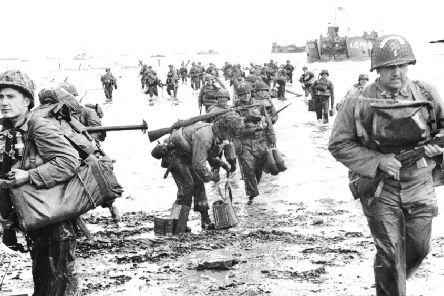 Allied forces storm ashore in Normandy on D-Day. Picture: Getty