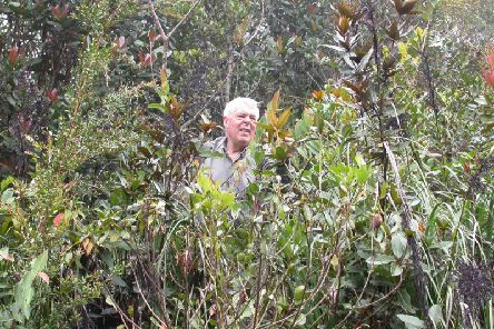 George Argent in his element, en route to Tenom, Malaysia, in 2007