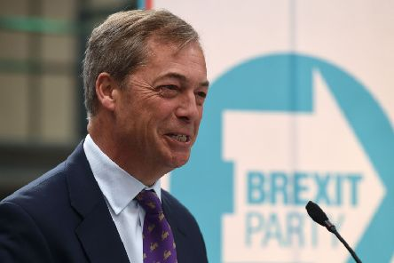 British politician and The Brexit Party leader, Nigel Farage attends the launch of The Brexit Party's European Parliament election campaign. Picture: Oli Scarff