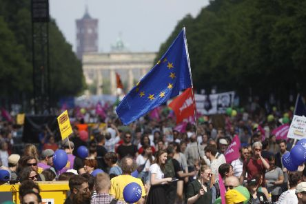 A 'One Europe For All' march in Berlin last weekend showed the strength of pro-EU feeling (Picture: Michele Tantussi/Getty Images)