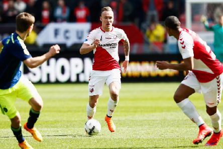 Mark Diemers in action for FC Utretcht against Ajax. The midfielder has caught the eye of a number of clubs