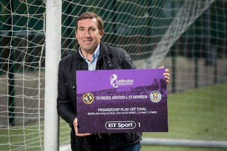 Former St Mirren manager Alan Stubbs promotes BT Sport's coverage of the play-offs. Picture: Malcolm Cochrane