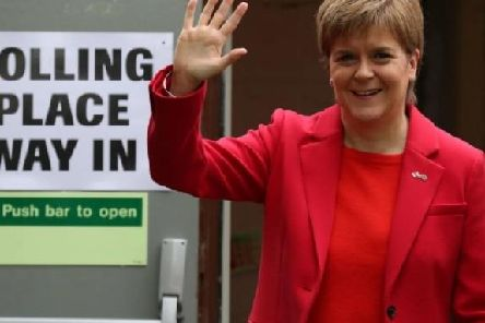 First Minister Nicola Sturgeon casts her vote in European elections