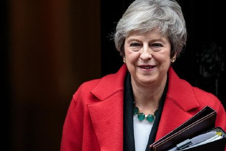 Prime Minister Theresa May leaves No.10 Downing Street