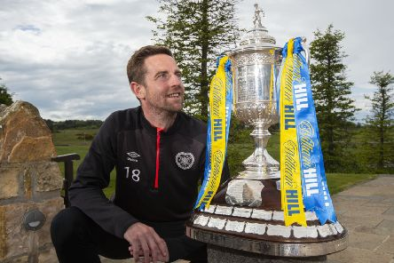 Steven MacLean already has two Scottish Cup winner's medals from his days with Rangers and St Johnstone. Now the Hearts striker  wants a third victory. Picture: SNS.