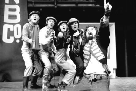 The Great Northern Welly Boot Show at the Edinburgh Festival Fringe in 1972 featured Billy Connolly, as well as Kenny Ireland (chorus, right) and Bill Paterson (chorus, second right). Picture: Denis Straughan