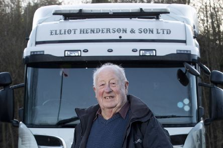 Richard Henderson, from Selkirk, is still working as a lorry driver at the age of 83
