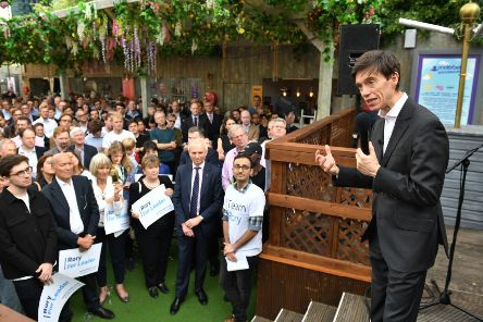 Conservative party leadership contender Rory Stewart speaking at a vote rally at the Underbelly Festival Garden on the Southbank in London. PRESS ASSOCIATION Photo. Picture date: Monday June 17, 2019. See PA story POLITICS Tories. Photo credit should read: Dominic Lipinski/PA Wire