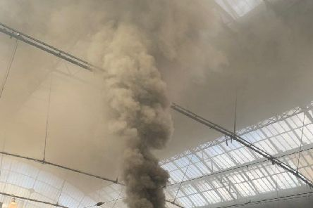 Smoke from the train at Glasgow Queen Street. Picture: Christopher Fernand.